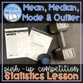 Mean Median Mode Range and Outlier Lesson - Data and Graphs