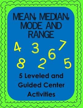 Mean, Median, Mode and Range: Leveled Practice