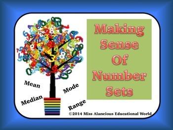 Mean, Median, Mode, and Range: Making Sense of Number Sets!