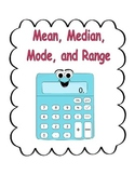 Mean, Median, Mode and Range Math Packet