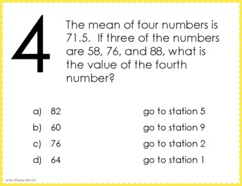 Mean, Median, Mode, and Range Stations Maze Activity