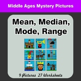 Mean, Median, Mode, and Range - Middle Ages Mystery Pictures