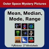 Mean, Median, Mode, and Range - Outer Space Mystery Pictures