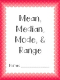 Mean, Median, Mode, and Range Packet