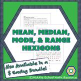 Mean, Median, Mode, and Range Hexagon Partner Activity   D