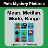 Mean, Median, Mode, and Range - Pets Mystery Pictures