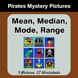 Mean, Median, Mode, and Range - Pirates Mystery Pictures