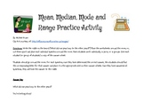 Mean, Median, Mode and Range Review Activity
