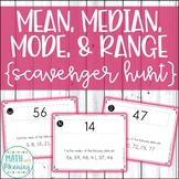 Mean, Median, Mode, and Range Scavenger Hunt - CCSS 6.SP.B.5.C