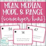 Mean, Median, Mode, and Range Scavenger Hunt - CCSS 6.SP.B.5.C