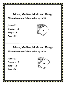Mean, Median, Mode and Range - Show Me A Hand