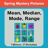 Mean, Median, Mode, and Range - Spring Mystery Pictures