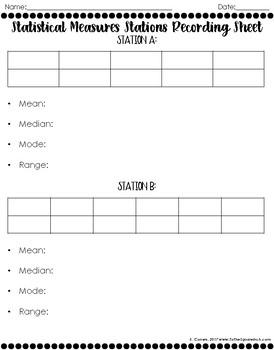 Mean, Median, Mode and Range Stations
