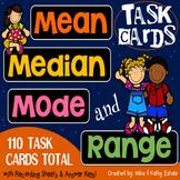 Mean, Median, Mode, and Range Task Cards