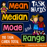 Mean, Median, Mode, and Range Task Cards