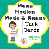 Mean, Median, Mode, and Range Task Cards Math Review