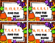 Mean, Median, Mode and Range Task Cards -  Halloween