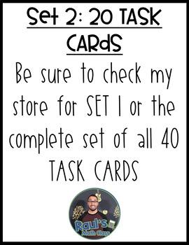 Mean, Median, Mode, and Range Task Cards (Set 2)