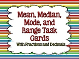 Mean, Median, Mode, and Range Task Cards {With Fractions and Decimals}