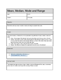 Mean, Median, Mode and Range: Thinking about Data Sets!
