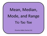 Mean, Median, Mode, and Range Tic-Tac-Toe