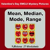 Mean, Median, Mode, and Range - Valentine's Day Emoji Myst