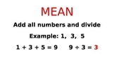 Mean, Median, Mode, and Range Visual