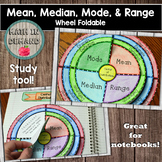Mean, Median, Mode, and Range Wheel Foldable (Center of Distributions)