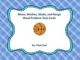 Mean, Median, Mode and Range Word Problem Task Cards