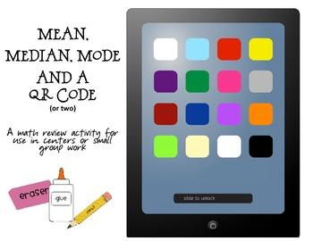 Mean, Median, & Mode plus a QR code