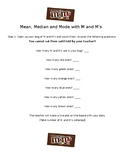 Mean, Median, Mode with M and M's