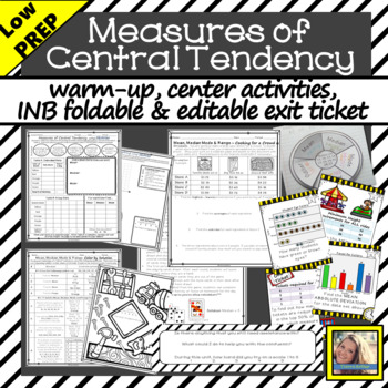 Measures of Central Tendency Activities