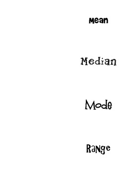 Mean, Median, and Mode Foldable