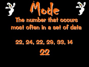Mean, Median and Mode Halloween Themed Power Point