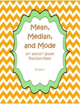 Mean, Median, and Mode Lesson Plan Bundle