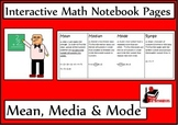 Mean, Median and Mode Lesson for Interactive Math Notebooks