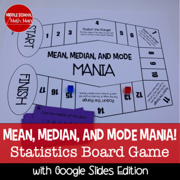 Mean, Median, and Mode Mania! A Math Board Game