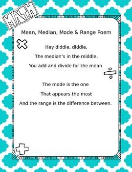 Mean, Median, and Mode Poem
