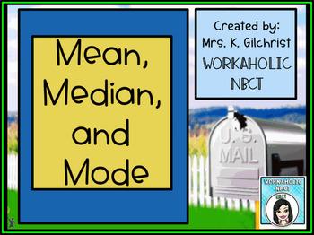 Mean Median and Mode Promethean ActivInspire Flipchart Lesson