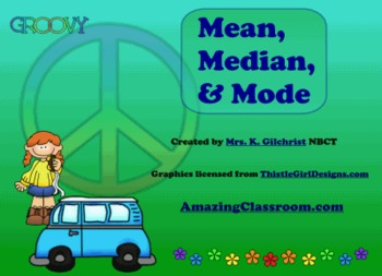 Mean Median and Mode SMART Notebook Lesson