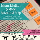 Mean, Median and Mode Solve and Snip Interactive Word Problems