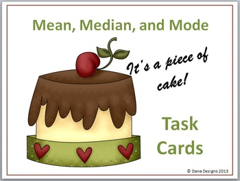 Mean, Median, and Mode Task Cards
