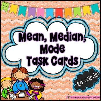 Mean, Median and Mode Task Cards