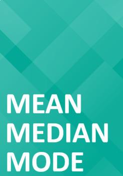 Mean, Median, and Mode Worksheet