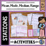 Mean Median Mode Range Math Stations