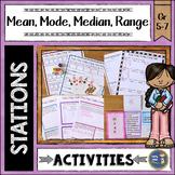 Mean Median Mode Range Math Stations