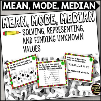 Mean, Mode, Median Task Cards