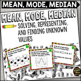 Mean, Median, Mode Task Cards
