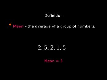 Mean, Mode, Median and Range Explained (Math Handout / PPT Presentation)