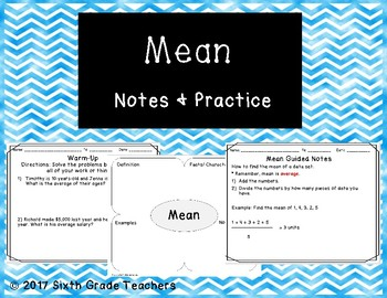 Mean Notes and Practice Resources